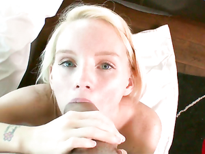 Spraying Her Pretty Teenage Face With A Hot Cumshot