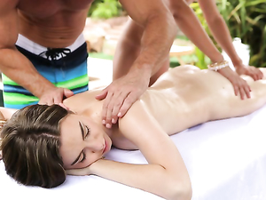 Erotic Couples Massage Turns Hardcore Outdoors