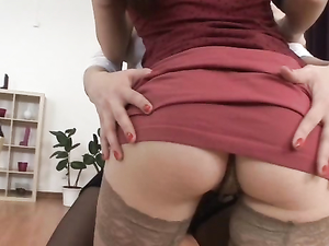 Russian Sluts In Stockings Share His Cock Anally