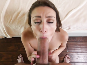 Suck Slut Looks At You As She Gives A Blowjob