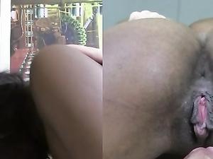 Thick Interracial Facial For A Naughty Black Girl