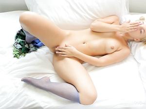 Super Cutie In Pigtails Masturbates Her Teenage Pussy