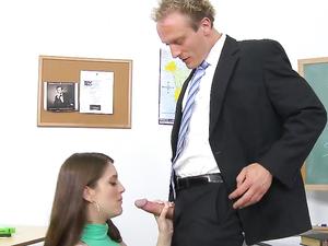 Sluttiest Student In School Fucks The Teacher