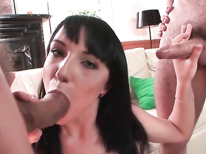 Hard Cocks For A Skinny European Slut To Suck On