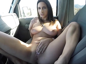 Parked In The Desert To Fuck A Slut In The Van