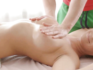 Massaging Her Teen Tits And Fingering Her Hot Pussy