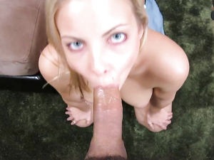 Her Mouth Was Made For Sucking On Stiff Cock