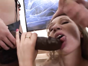 Corset Girl Does A DP With His Cock And A Strapon