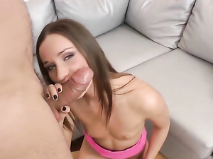 Hot Lips Teen Tease Takes A Fat Cock Up The Ass
