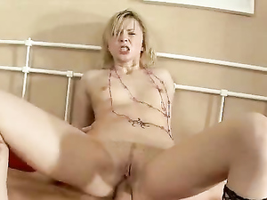 Rolling Down Her Fishnets And Fucking Her Teen Pussy