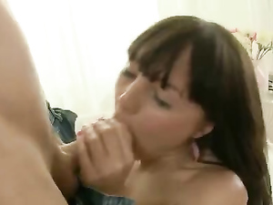 Fucked Teen Tastes Her Pussy On His Hard Dick
