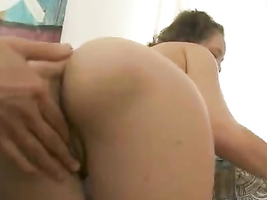 Brunette Teen Cutie Bent Over And Banged Doggystyle