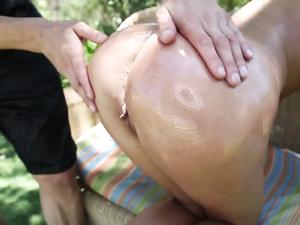 Lubed Ashley Adams Fucks On A Bouncy Trampoline