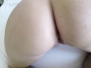 Fat Ass Amateur Climbs On The Dick And Rides