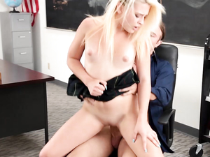 Miniskirt Slut Bent Over A Desk And Fucked Hard